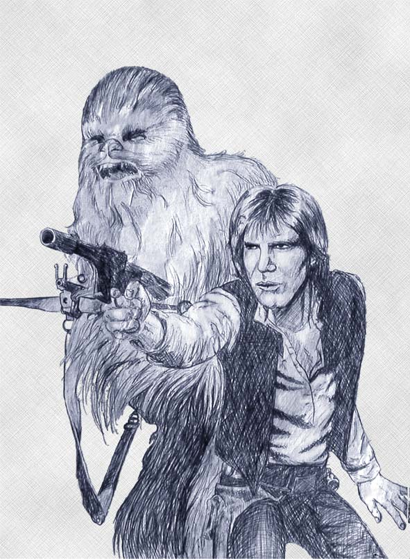 Star Wars drawing by S. Fairbanks