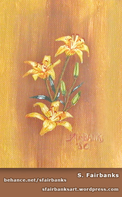 Flower Painting by S. Fairbanks